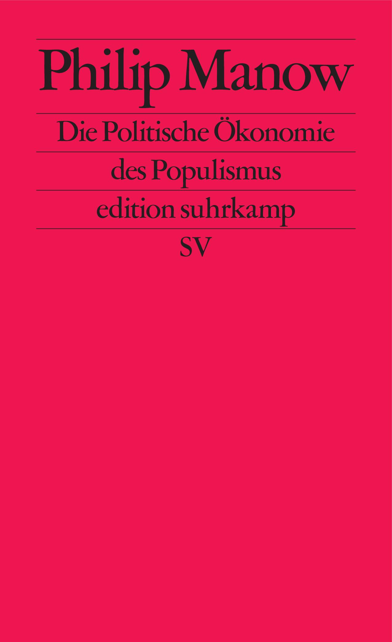 Cover: Die Politische Ökonomie der Populismus